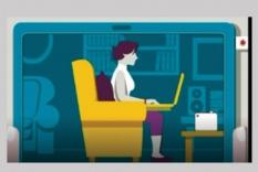 نحوه صحیح نشستن به هنگام کار با لب تاپ